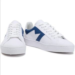 Maje canvas and leather sneakers